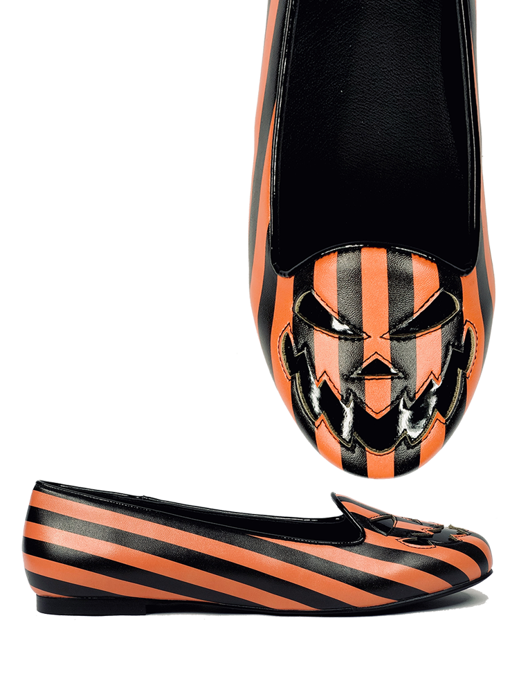 Lydia Scary Jack Black/Orange Stripe