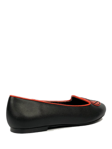 Lydia Web Heart Black Red