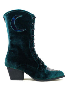 Spirit Boot Green Velvet