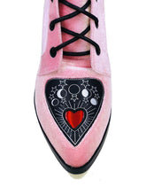 Spirit Heart Boot Pink Velvet