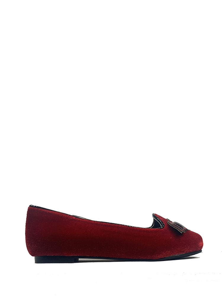 KIDS Lydia Flat Bat Red Velvet