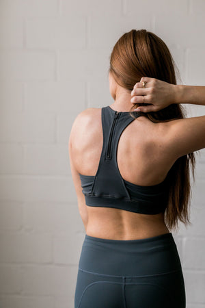 Ahead Of the Curve Sports Bra In Pine