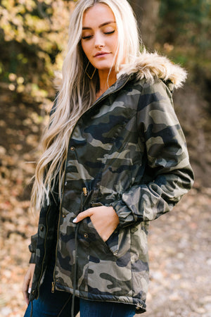 Alaskan Wilds Anorak in Olive Camo