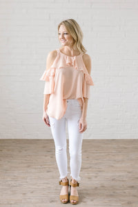 Date Night Top In Peach