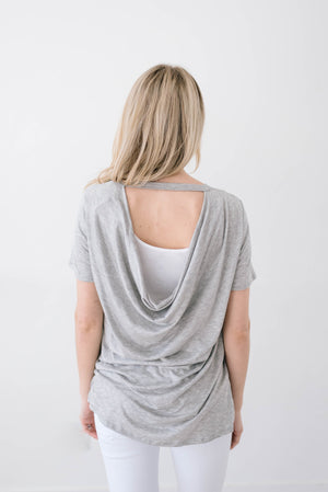 Wild & Free Tee In Gray