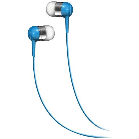Bass 13(TM) Metallic In-Ear Earbuds with Microphone (Blue)