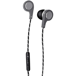 Bass 13(TM) Metallic In-Ear Earbuds with Microphone (Silver)