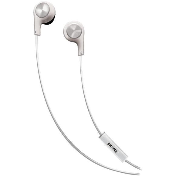 Bass 13(TM) Heavy-Bass In-Ear Earbuds with Microphone (White)