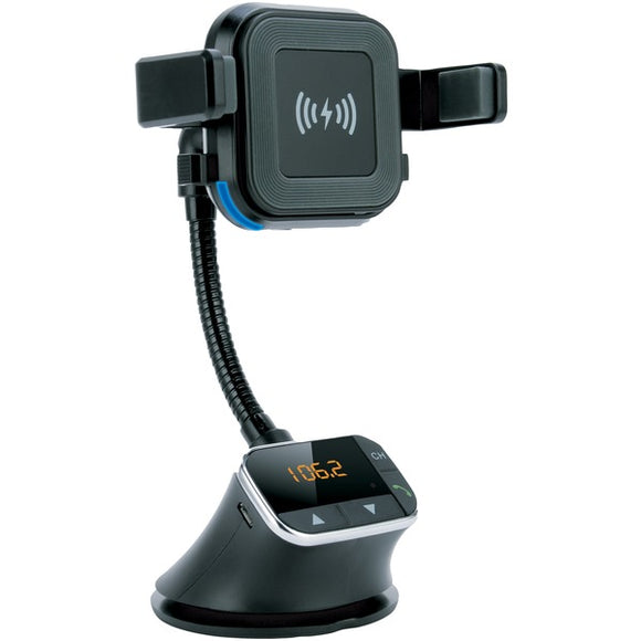 Bluetooth(R) Qi(R) Charging Mount and FM Transmitter