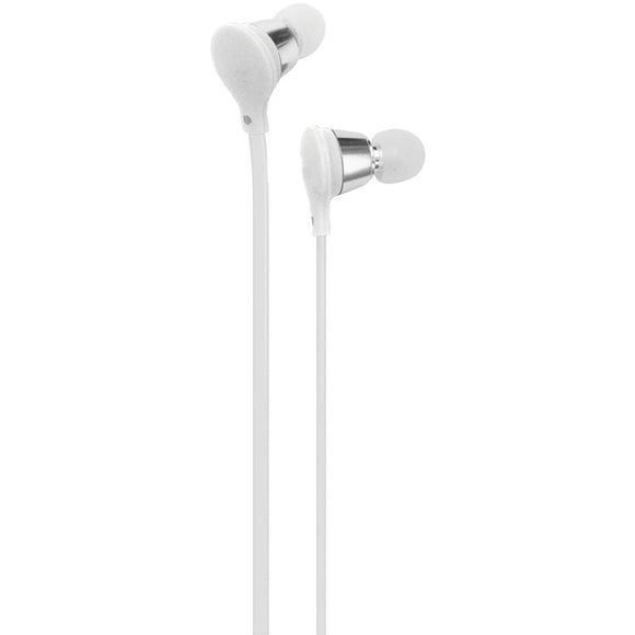 Jive Noise-Isolating Earbuds with Microphone (White)
