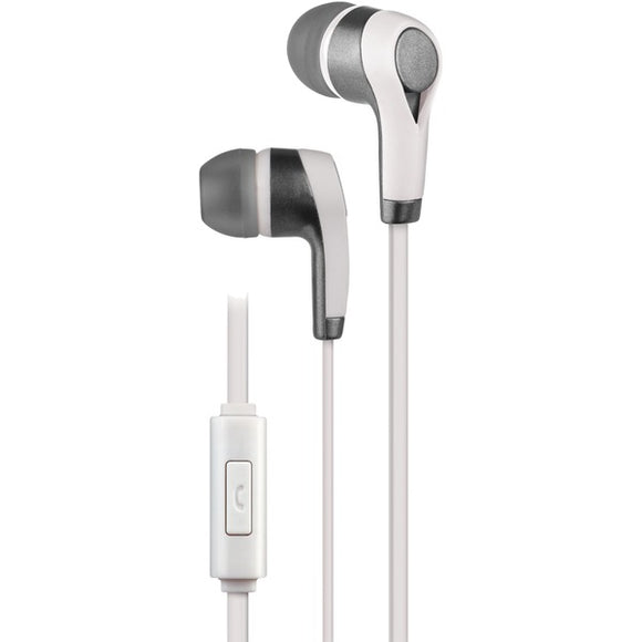 PE10 In-Ear Stereo Earbuds with Microphone (White)