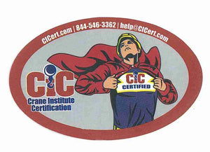 Crane Institute Certification Hard Hat Decal