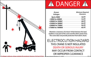 Electrocution Warning Decal