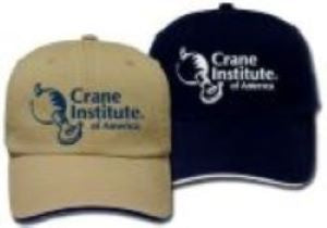 Hat with Crane Institute Logo