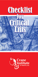 Checklist for Critical Lifts