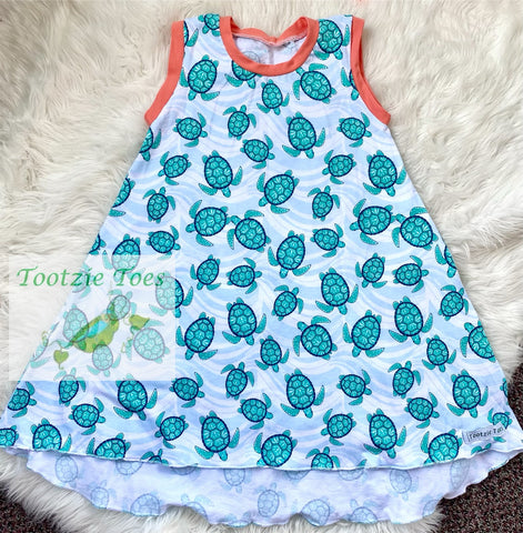Tshirt dress ~ Sea Turtles