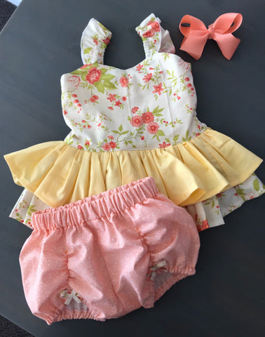 Peplum Set ~ Peach