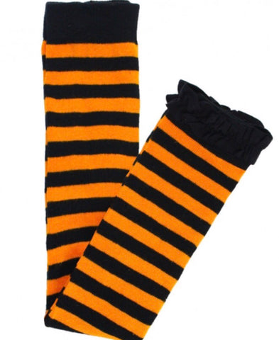 Black and Orange stripe footless tights