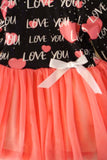 Pink tulle Love dress