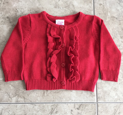 Red Ruffles Cardigan