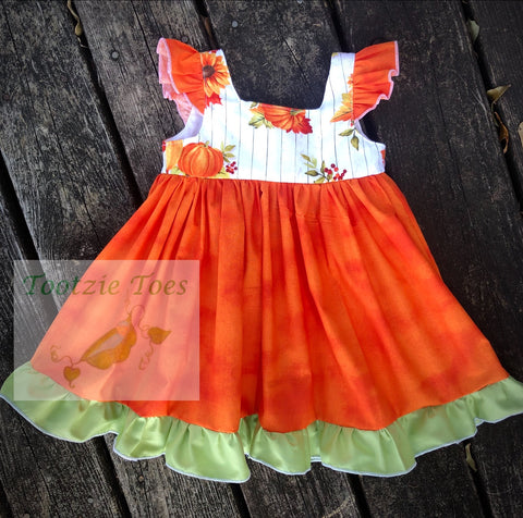 Pumpkin flutter dress