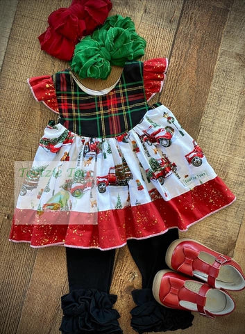 Christmas tree truck tunic