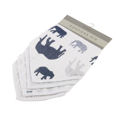 Into the wild Elephant bandana bib set