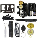 10 in 1 SOS Emergency Survival Gear Kit  For Field Travel Camping or Hiking