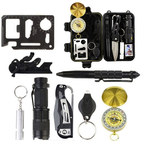 10 in1 SOS Emergency Survival Gear Kit