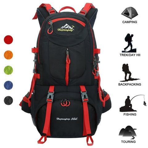 50L Outdoor Bag Men Camping Bag Waterproof