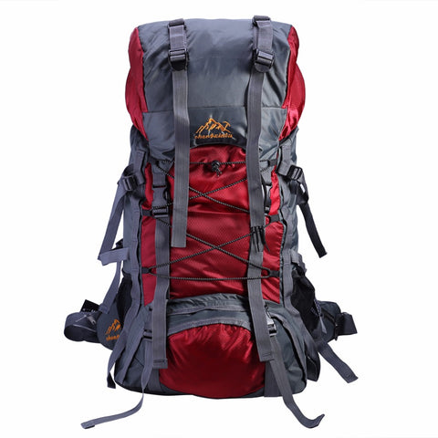 60L Large Waterproof Travel Bag Sport Rucksack for Mountaineering