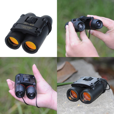 Day Night Vision 30 x 60 Zoom Outdoor Hunting Travel Folding Binoculars Telescope