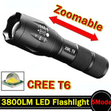 LED Flashlight 3800 Lumnes XM-L T6 LED Tactical Flashlight Torch 5Mode Zoomable Flashlight Waterproof Torch Light lanternas