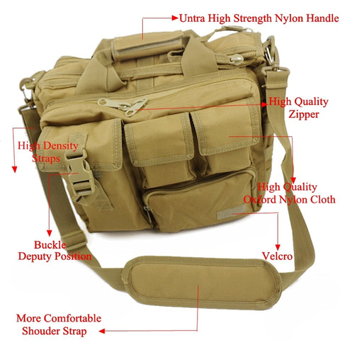 Military Hunting Tactical Laptop Bag Waterproof Nylon Wear-Resisting
