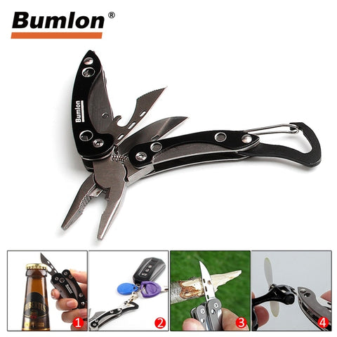 Outdoor Tactical Folding Pocket Survival Knife + Pliers