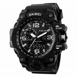 Outdoor Multifunctional Digital Tactical Watch Dual Display Sports Men Waterproof Double Movement Noctilucent Wrist Watches#