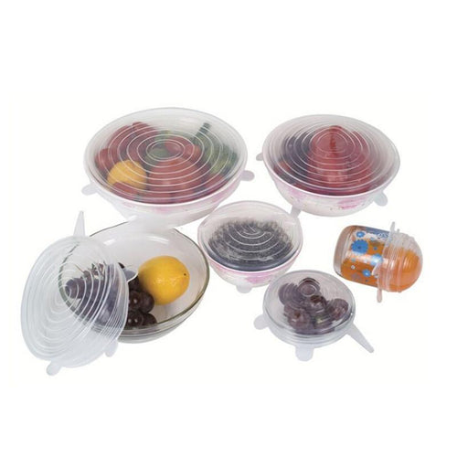 6 Piece Set Stretchable Lids
