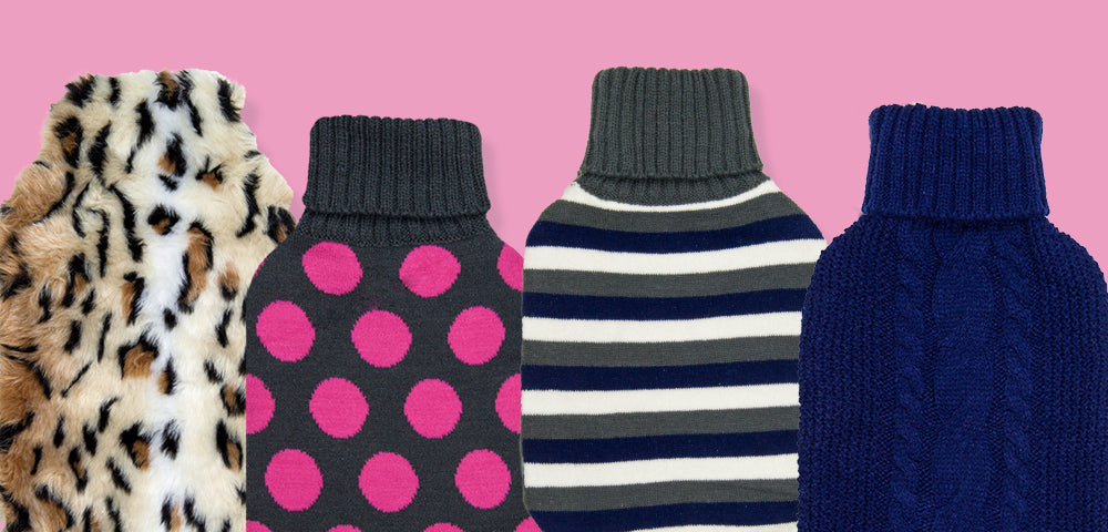hot water bottles and cover designs by grain