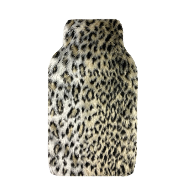 Hot Water Bottle & Cover - Leopard Fur
