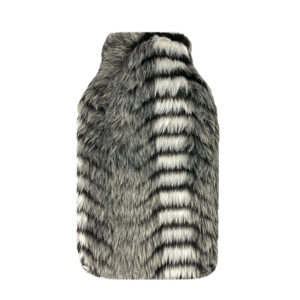 Hot Water Bottle & Cover - Zebra Fur