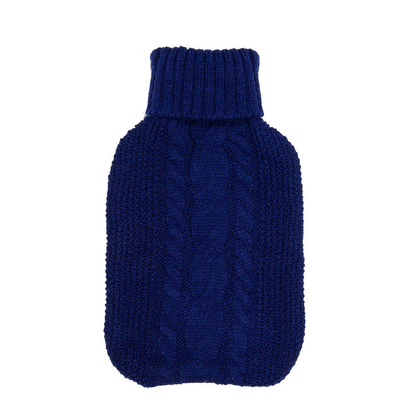 Hot Water Bottle & Cover - Ink Cable Knit - The Grain Shop Online Store