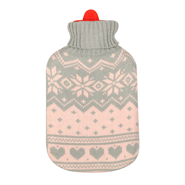 Hot Water Bottle & Cover - Arctic Knit - The Grain Shop Online Store