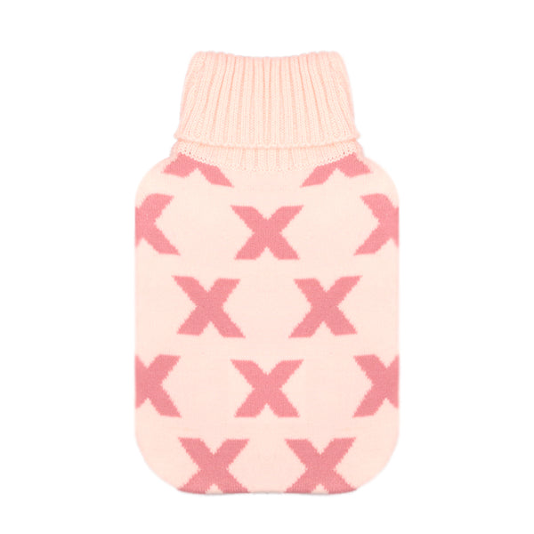 Hot Water Bottle Cover - Millennial Pink Cross - The Grain Shop Online Store
