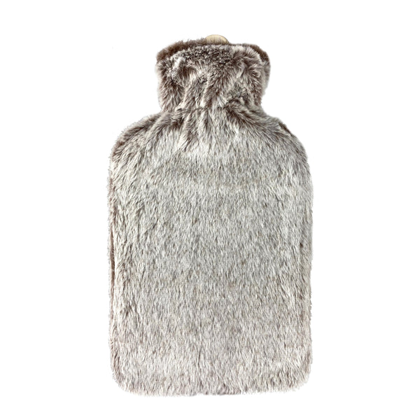 Hot Water Bottle & Cover - Faux Fur