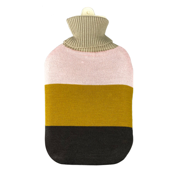 Hot Water Bottle & Cover - Block Stripe Knit