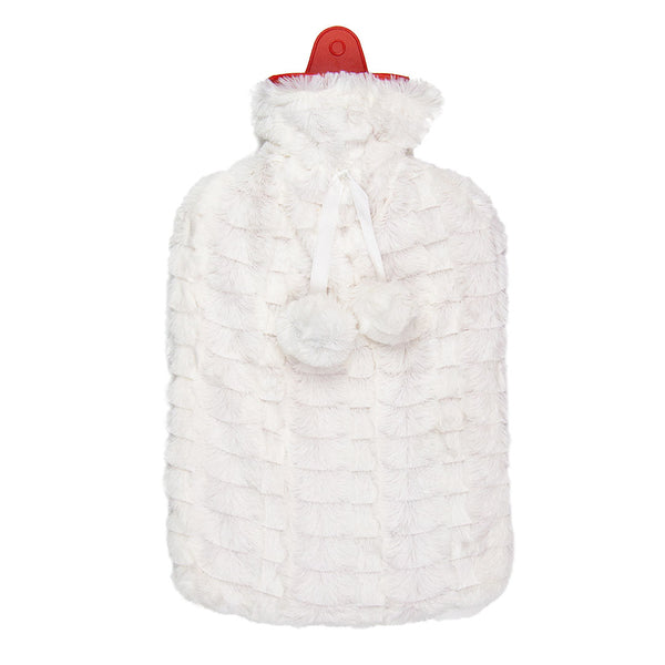 Hot Water Bottle & Cover - White Fur - The Grain Shop Online Store
