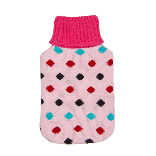 Hot Water Bottle Cover - Pink Spotted - The Grain Shop Online Store