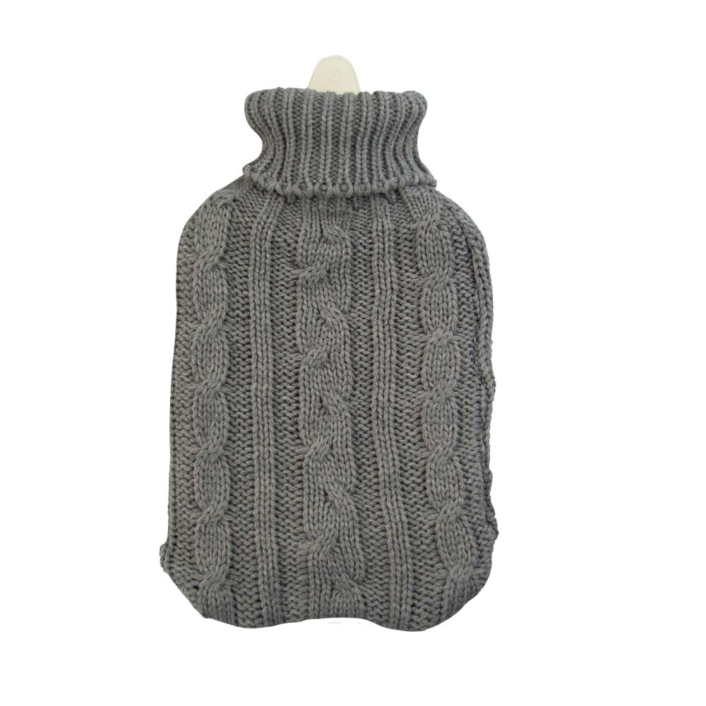 Hot Water Bottle & Cover - Grey Cable - The Grain Shop Online Store