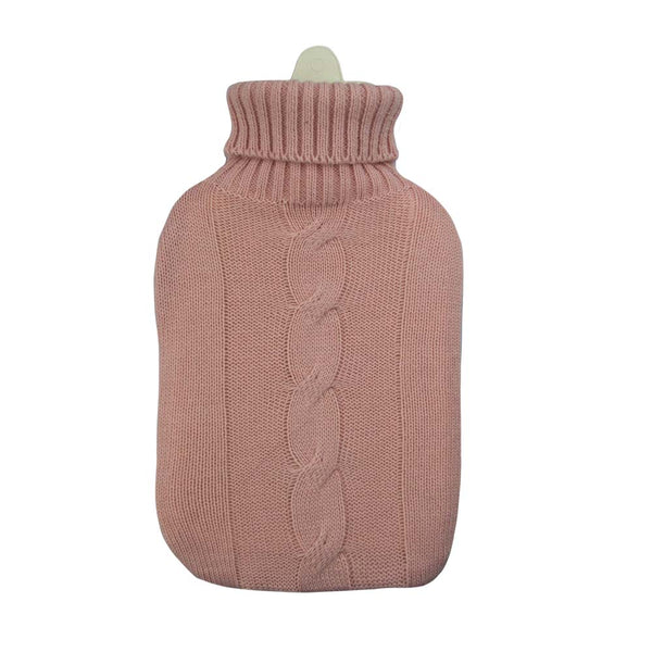 Hot Water Bottle & Cover - Pink Cable - The Grain Shop Online Store
