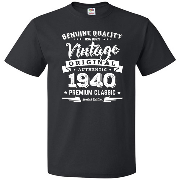 Born in 1940 Vintage Birthday TShirt  Made in 1940 Shirts